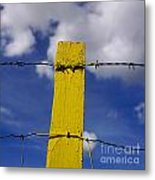 Yellow Post Metal Print by Bernard Jaubert