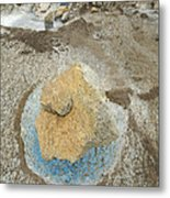 Yellow Rock And Pool  Meade Glacier Metal Print
