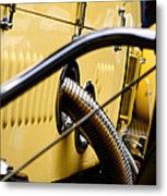 Yellow Rolls Royce Metal Print