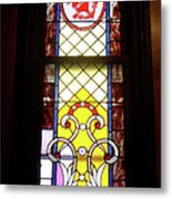 Yellow Stained Glass Window Metal Print