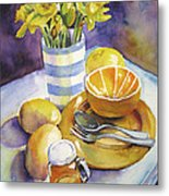 Yellow Still Life Metal Print by Susan Herbst
