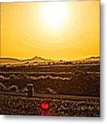 Yellow Sun Metal Print