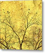 Yellow Wall Metal Print