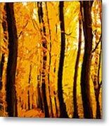 Yellow Wood Metal Print