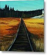 Yellowstone Boardwalk Metal Print