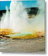 Yellowstone Geysers Metal Print