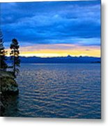 Yellowstone Lake Sunrise Metal Print