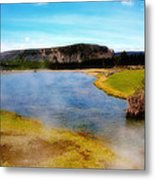 Yellowstone Landscape Metal Print