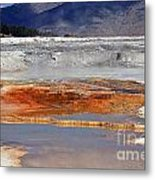 Yellowstone National Park Geothermal Reflections Metal Print