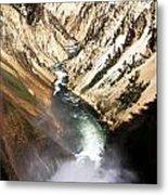 Yellowstone River Below Lower Falls Metal Print