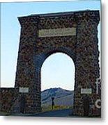 Yellowstone Roosevelt Arch Metal Print