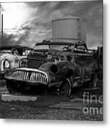 Yesterday Came Early . Tomorrow Is Almost Over 2 . Black And White Metal Print by Wingsdomain Art and Photography