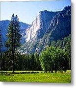 Yosemite Falls From The Ahwahnee Metal Print