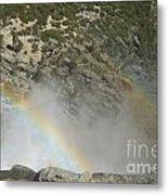 Yosemite Falls Rainbow Metal Print