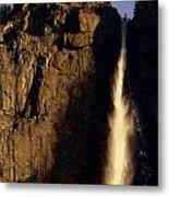 Yosemite Falls Winter Morn' Metal Print