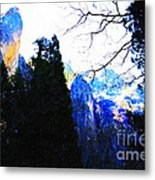 Yosemite Snow Top Mountains Metal Print