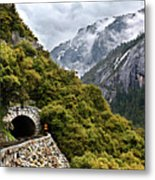 Yosemite Tunnel Metal Print