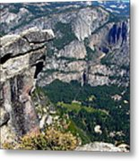 Yosemite Valley From Glacier Point Metal Print