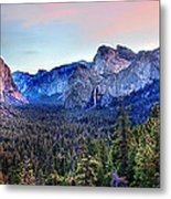 Yosemite Valley From Tunnel Metal Print