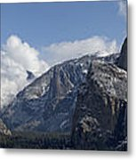 Yosemite Valley Panoramic From Tunnel View Metal Print