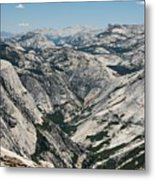Yosemite Valley, View From Half Dome Metal Print
