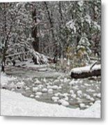 Yosemite Winter Metal Print by Heidi Smith