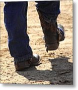 Young Cowboy With Spurs Metal Print