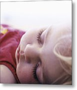 Young Girl Sleeping Metal Print