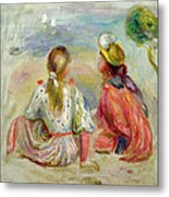Young Girls On The Beach Metal Print