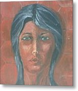Young Indian Woman Metal Print