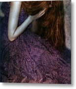 Young Lady Crying Metal Print