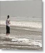 Young Man And The Pacific Ocean Metal Print