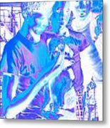 Young Men With A Dog Metal Print
