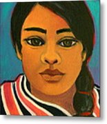 Young Mexican Girl Metal Print
