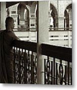 Young Monks In Mandalay Hill Metal Print