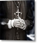 Young Renaissance Priest Metal Print