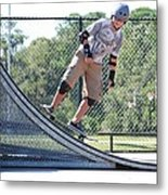 Young Skateboarder Metal Print