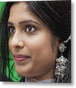 Young Woman India Day Parade Nyc 2012 Metal Print
