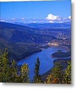 Yukon River In Fall Colors Metal Print