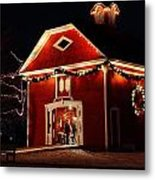 Yuletide Celebration In The Carriage House Metal Print
