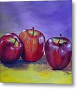 Yummy Apples Metal Print