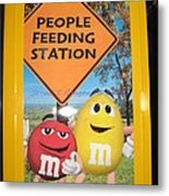 Yummy M And M's Metal Print
