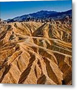 Zabriskie Point Badlands Metal Print