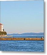 Zadar Pier On The Adriatic Sea Metal Print