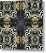 Zebra Cross II Metal Print