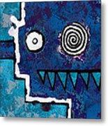 Zeeko - Blue And Aqua Metal Print