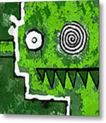 Zeeko - Green Metal Print