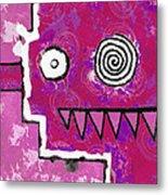 Zeeko - Pink Metal Print