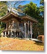 Zen Building In A Garden At A Sunny Morning Metal Print