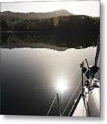 Zen Morning On A Sailing Boat Metal Print